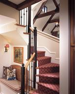 French Style Home--Stairway, After
