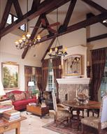 French Style Home--Living Room
