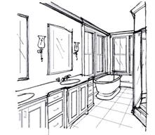 In Town Historic--Master Bath, Concept